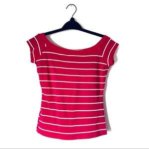 🛍 4/$20 Wetseal Pink and White Stripped Top